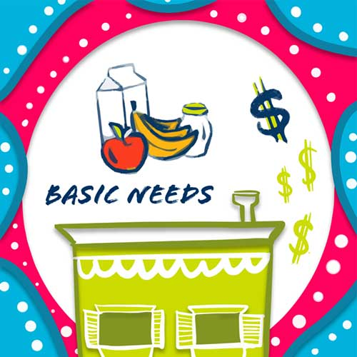 basic needs button