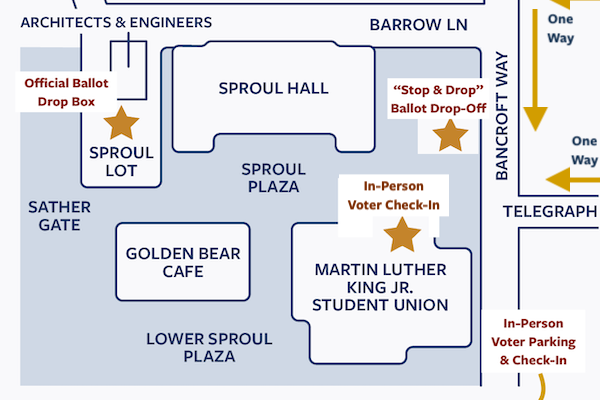 Map of accessible Voting Location