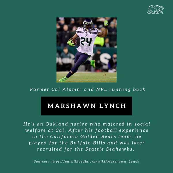 Marshwn Lynch former Cal Alum