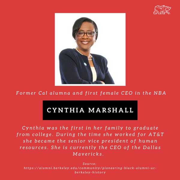 Cynthia Marshall CAl Alum and first female CEO of the NBA